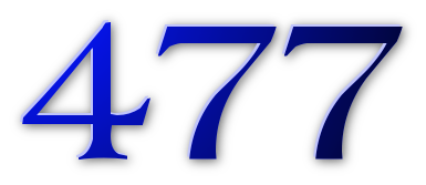 Graphic showing the number 477